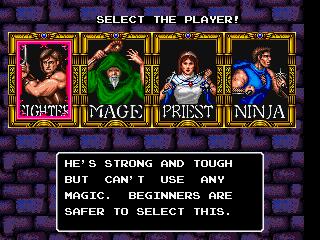 Los cuatro héroes disponibles