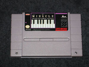 Cartucho de Miracle Piano para SNES