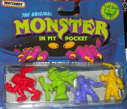 Los juguetes de Monsters In My Pocket